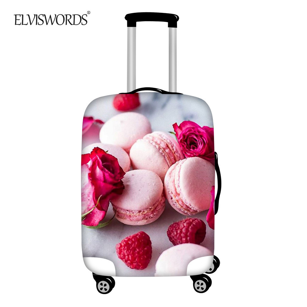 ELVISWORDS Cute Pink Cookies 3D Print Luggage Cover Elastic Thick For 18-32 Inch Travel Trolley Suitcase Protector
