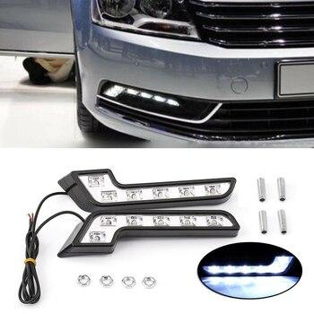 2PCS 12V L Shaped Driving Lamp Daytime Running Fog Light Durable Waterproof Car LED Lamp 1