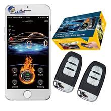 Cardot 2020 Gsm 자동차 경보 시스템 암호 열쇠가없는 항목 점화 시작 중지 엔진