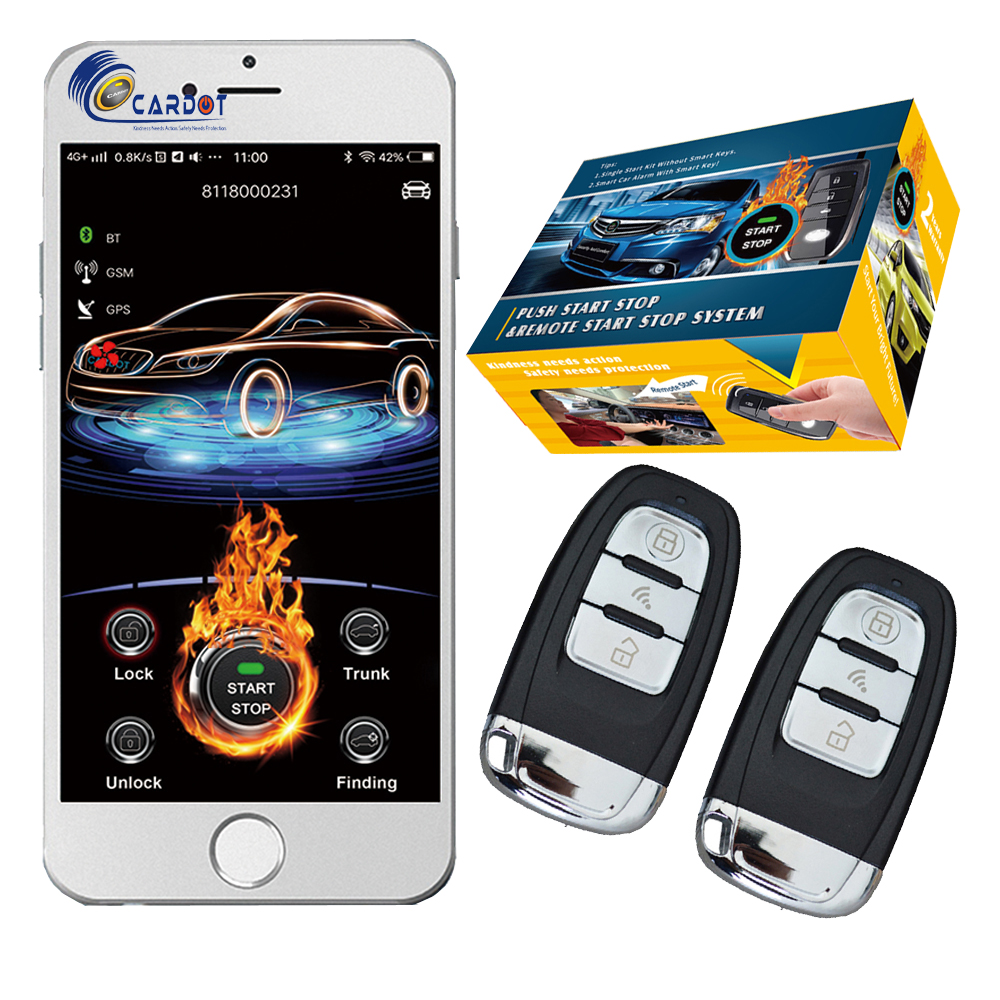 cardot 2020 gsm car alarm system passwords keyless entry ignition start stop engine