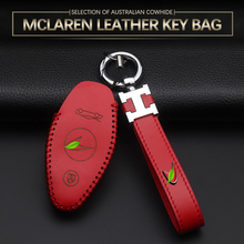 Nadaje się do McLaren etui na klucze jeden przycisk start etui na klucze 720S 570S 600LT540C 570GT samochód skórzany na klucze nakładka na znaczek futerał na klucze akcesoria tanie tanio CN (pochodzenie) Górna Warstwa Skóry Badge key box key chain