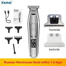 Kemei 5027 Electric Trimmer Men Hair Beard Clipper Razor rechargeable LCD display Kemei Professional Barber Hair Cutter machine