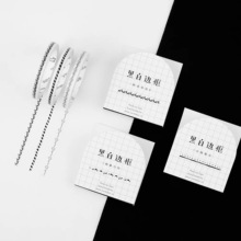 Lovers of the letter Black and white borders extremely fine and paper tape Hand account sticker diy sticker 5mm*7m