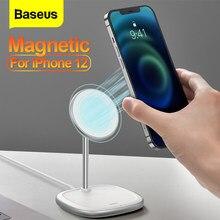 Baseus – Support de chargeur sans fil magnétique pour iPhone 12 Pro Max, 15W, compatible aussi avec 12Pro, Mini, téléphone