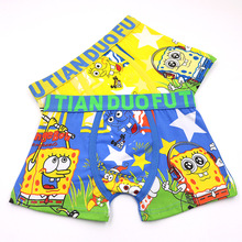 Kid Boxer Panty Briefs Sponge Boys Underwear Soft Cartoon Breathable 2pcs/Set 3-11T