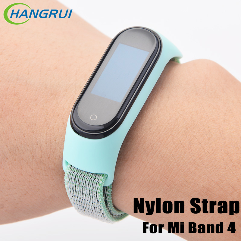 Nylon Strap For Xiaomi Mi Band 4 Replaceable Smart Watch Wristband Bracelet For Mi Band 4 NFC Mi4 Global Women Men Bracelet