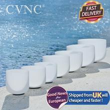 "CVNC 6 "" 12"" ชุด7PCSหมายเหตุCDEFGAB Chakra Frostedคริสตัลควอตซ์ร้องเพลงชาม"