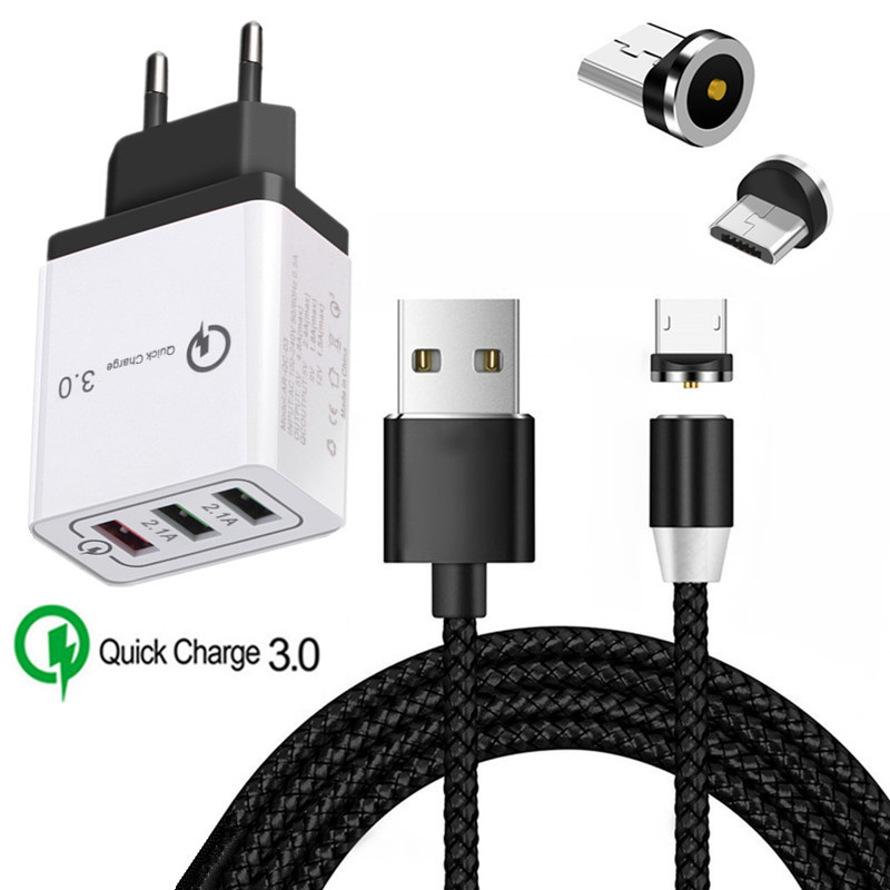 "MAGNETIC Magnet CHARGER 8/"" flat MICRO USB data Cable for SAMSUNG GALAXY S4 S6 S7"