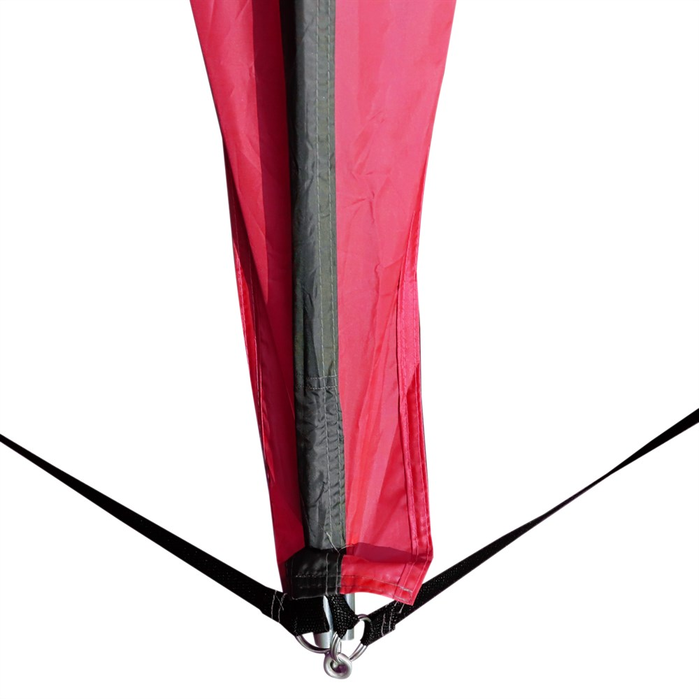 Outsunny tente imperméable UV pour 6 personnes plage Camping polyester 330x330x255 cm noir et - 6