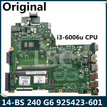 CPU Laptop Motherboard G6-Series 240 925423-001 DA0P1BMB6D0 for HP LSC 14-BS I3-6006u