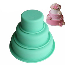 3 Layer Round Cake Mold Silicone Baking Tray Pan Graduation Season Cake Mold Set NOV99