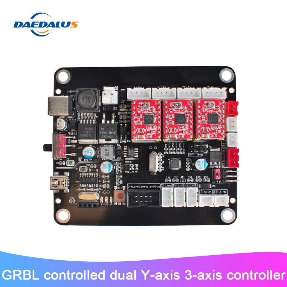 Placa de Controle Placa da Linha Central com Controle Gravador a Laser Grbl para 3018 Novo Eixos Controlador Usb Duplo y – 2418 1610 Máquina 3 Cnc
