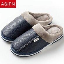 Men Slippers Platform-Shoes Couple Fluffy Home-Fur Male Waterproof Winter Big-Sizes Indoor