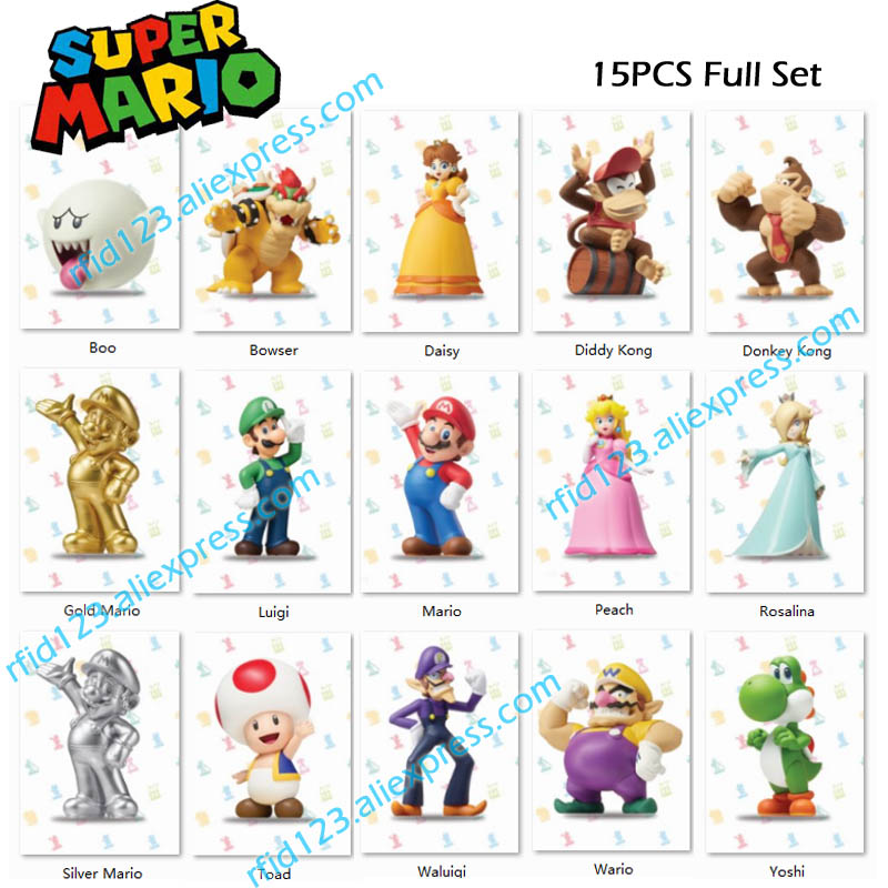 NFC Amiibo Card For Super Mario Series Full Set-15PCS