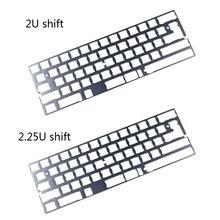 Серая 60% алюминиевая механическая клавиатура Поддержка gk64