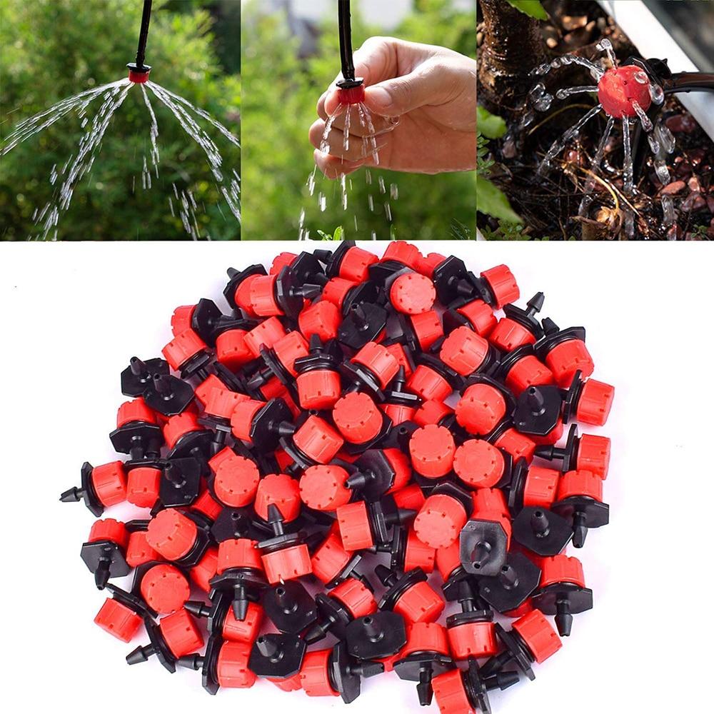 50//100X Micro Flow Drip Head Barb Irrigation Watering Dripper Sprinkler Emitter