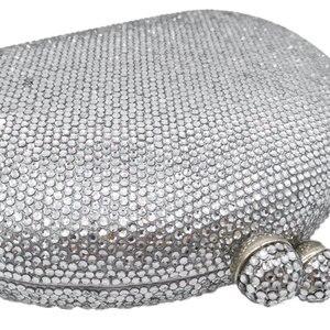 Image 4 - Boutique De Fgg Elegante Zilveren Vrouwen Avondtassen En Koppelingen Hard Case Wedding Party Bridal Kristal Portemonnees En Handtassen