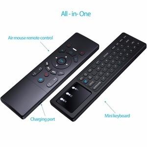 Image 3 - T6 2.4G Wireless Mini tastiera microfono 7 colori retroilluminazione Touchpad IR Learning Voice Air Mouse telecomando per android tv
