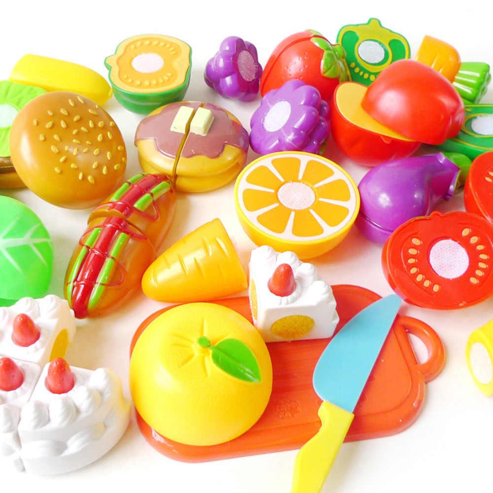 Dziecko udawaj Role Play dom zabawka cięcia owoce warzywa ciasto symulacja kuchnia gotowanie żywności zabawki dla dzieci prezenty