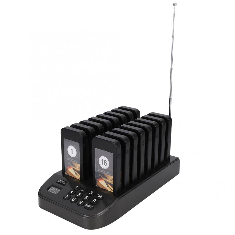 Clearance SaleªCoaster Pager Calling-System Vibration Waiting 1-Transmitter Led-Guest SU-66S 16Â