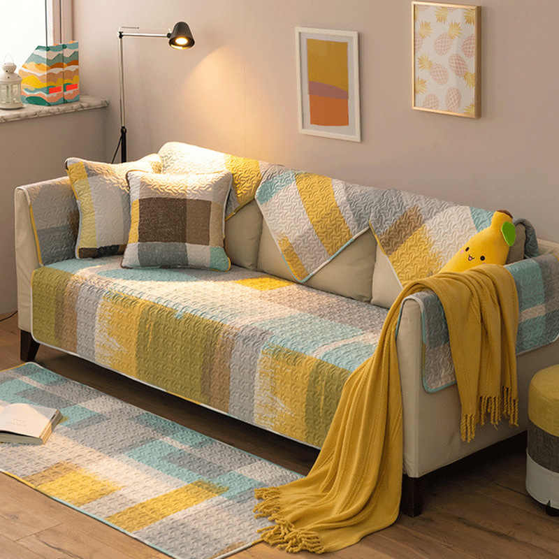 غطاء أريكة الغلاف عدم الانزلاق أربعة الموسم العالمي تمتد وسادة أريكة غطاء مقعد الذراع أريكة منشفة لغرفة المعيشة 3 مقاعد
