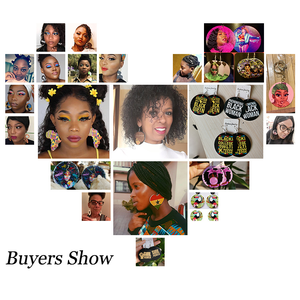 Image 3 - SOMESOOR Wholesale Custom African Wooden Drop Earrings Both Sides Printing Personalized Afro Black Pendant Dangle For Women Gift