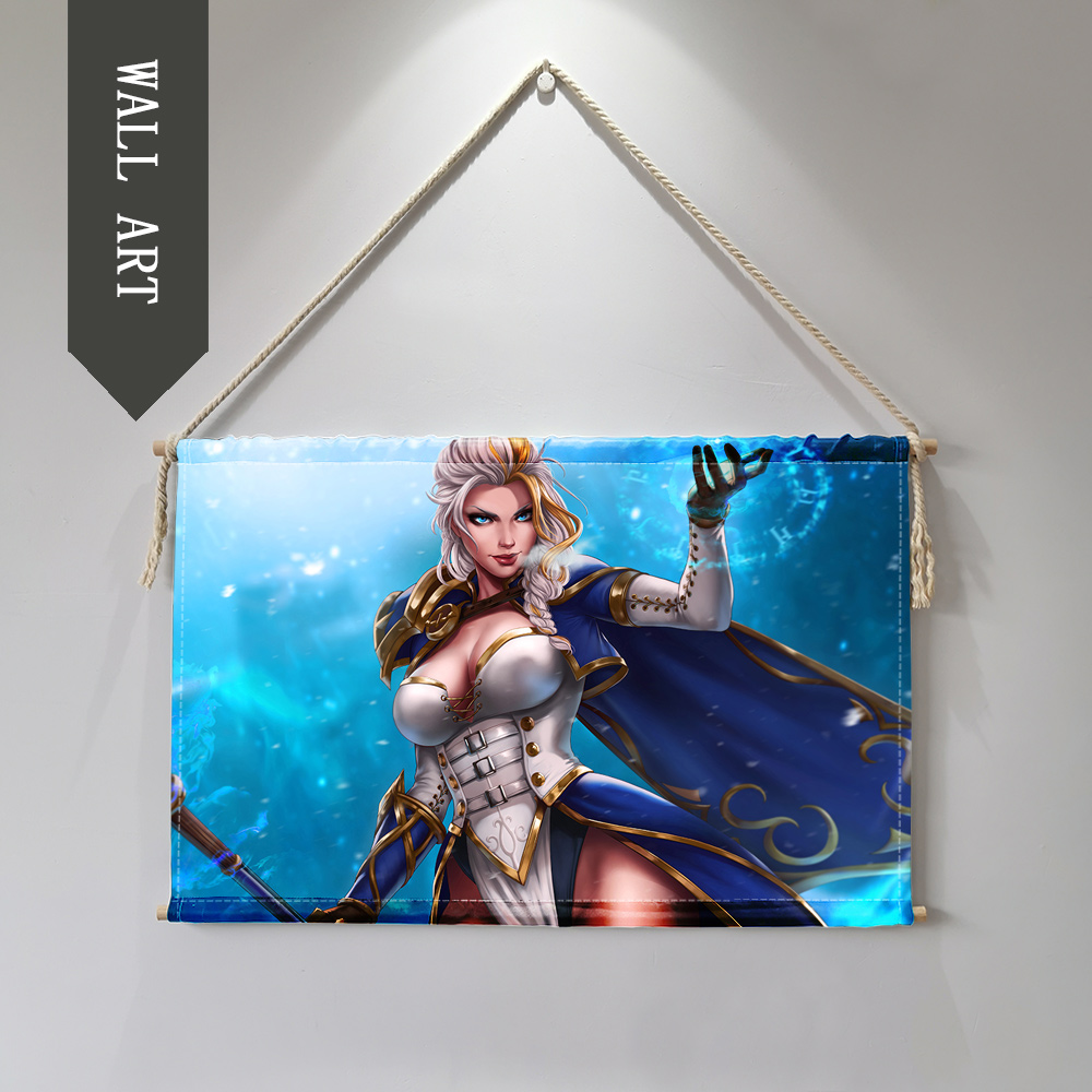 world of Warcrafts Sylvanas Jain Hanging Wall Art Poster wall pictures for living room Cloth scroll painting cuadro decorativo