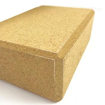 Нескользящий пробковый блок для Йоги (22x14x7)