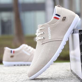 2019 men Casual Shoes Breathable mens canvas shoes for fashion Flats brand Zapatos de hombre