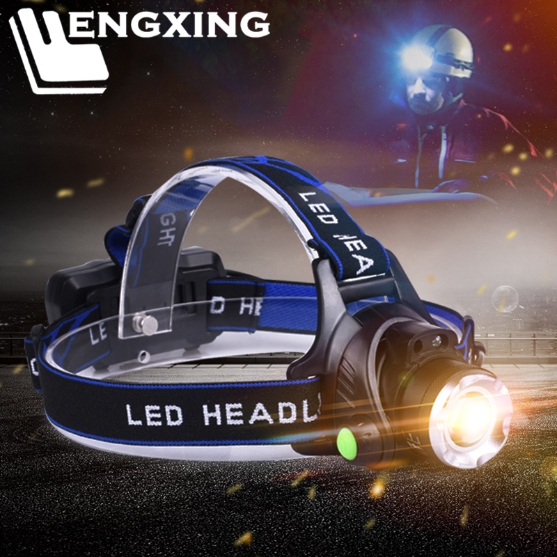 Led Headlamp Headlight XML-T6 L2 V6 Zoomable Portable Flashlight Torch Waterproof Led Lamp Rechageable 18650 Battery For Fishing