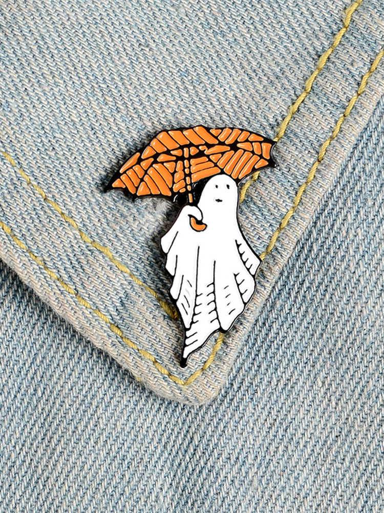 Cadılar bayramı pimleri karikatür kabak emaye pimleri Gotham palyaço hayalet cadı rozetleri broşlar yaka şapka çanta ceket pin Punk takı hediye
