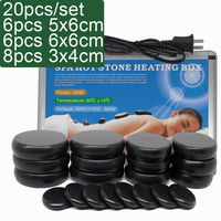 20pcs/set Hot Stone Massage Set Heater Box Relieve Stress Back Pain Health Care Acupressure Lava Basalt Stones for Healthcare