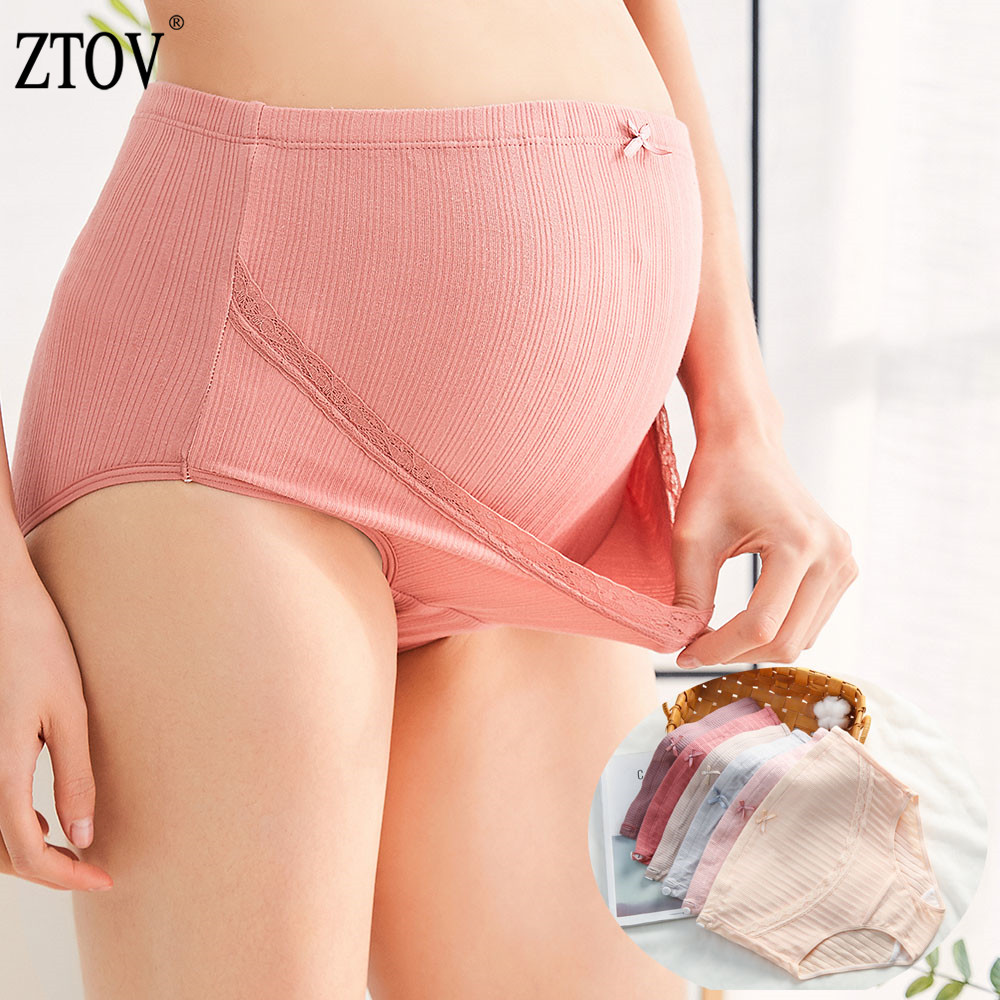 365.0¥ 20% OFF ZTOV Cotton Maternity Panties High Waist Pregnancy Underwear for Pregnant Women Preg...