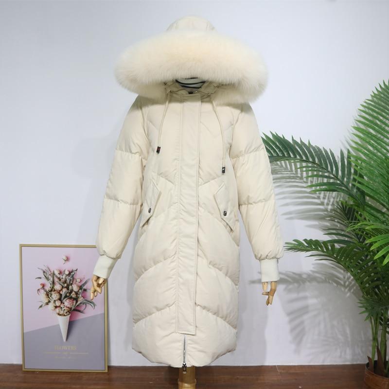 Hooded Fur Collar Winter   Down     Coat   Jacket Long Thick Warm Women Casaco Feminino Abrigos Mujer Invierno Student Wadded Parkas