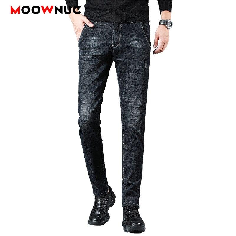 Jeans Male Trousers Pants MOOWNUC Autumn Classic Mens Jeans Skinny Denim Streetwear Jeans For Men Slim Designer Casual Straight