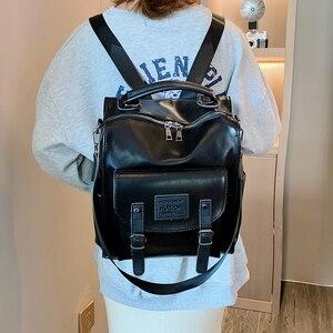 Image 5 - Wysokiej jakości plecak w stylu Retro kobiet plecak torba na ramię londyn styl nastoletnia dziewczyna tornister Mochilas kobiet plecak studencki