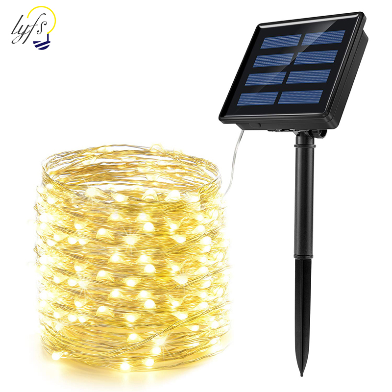 LED Solar Light Outdoor Waterproof Fairy Garland String Lights Christmas Party Garden Solar Lamp Decoration 7/12/22/32/42M 1