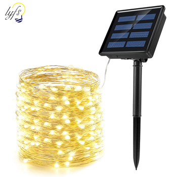 LED Solar Light Outdoor Waterproof Fairy Garland String Lights Christmas Party Garden Solar Lamp Decoration 7/12/22/32/42M