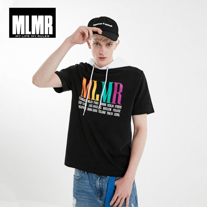 JackJones Men's MLMR 100% Cotton Streetwear Comfortable Letter Print Short-sleeved T-shirt Menswear| 219101504