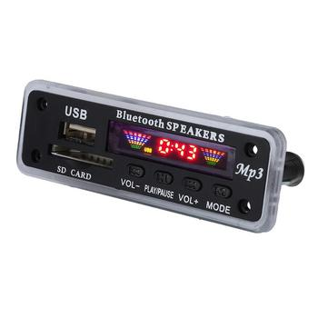 Car Speaker MP3 Player AUX USB SD FM Radio Security Digital Card Wireless Bluetooth 5.0 MP3 Decoder Module image
