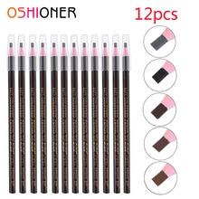 Makeup-Tool Pencil Eyebrow-Enhancers-Pen Eye-Brow Long-Lasting Waterproof Tint-Dye 12pcs