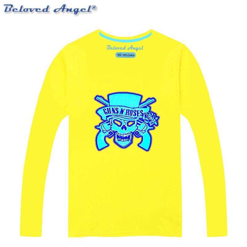 Детская одежда; детская футболка; сезон осень-зима; светящаяся футболка с длинными рукавами для девочек и мальчиков; топы; футболки для малы...