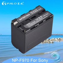 PALO 1pc 7.2V 7200mAh NP-F960 NP-F970 NP F960 F970 F950 Battery For Sony PLM-100 CCD-TRV35 MVC-FD91 MC1500C L10