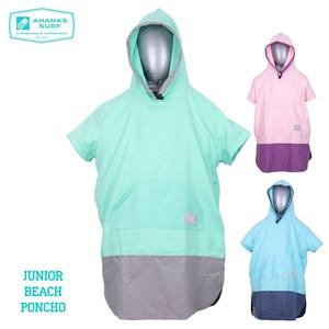 Ananas Surf Beach Poncho Unisex Kids Junior Change Wetsuit Robe Towel Surfing Style