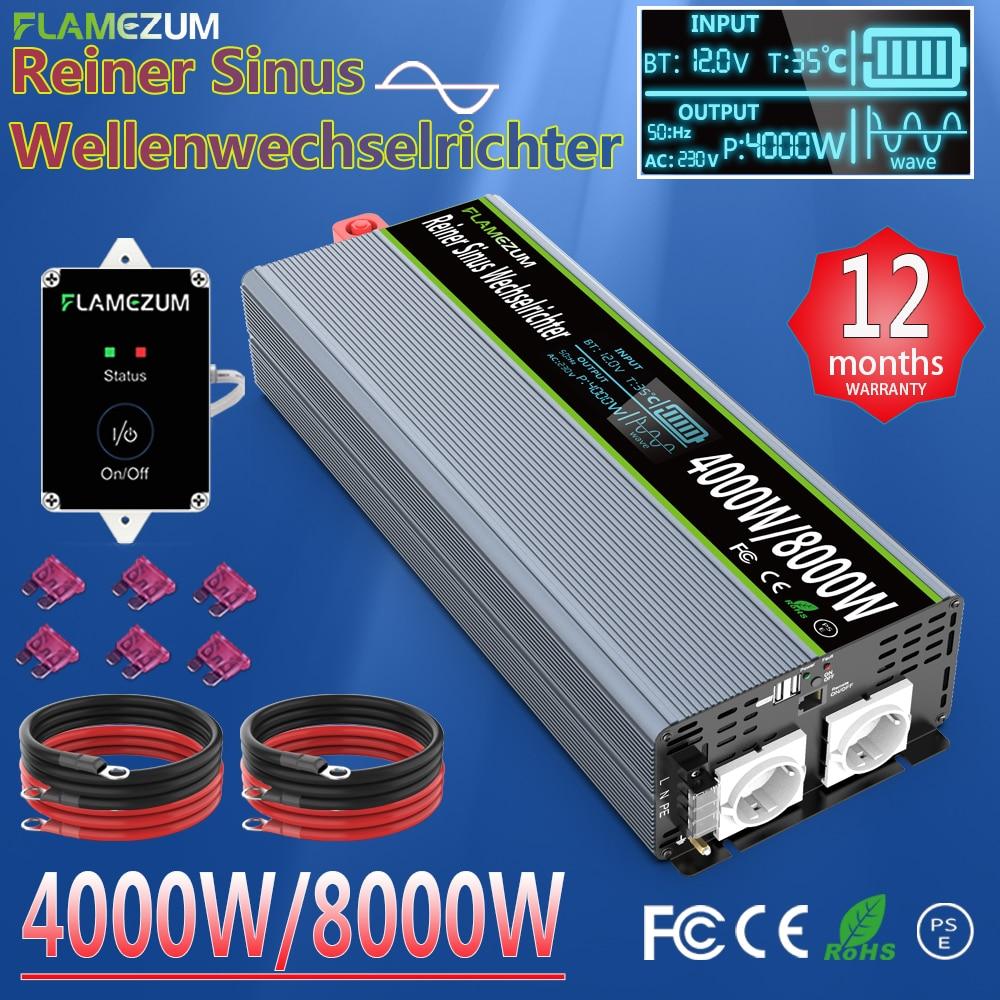 Чистая синусоида Инвертор 2000W 2400W 3000W 4000W 5000W 7000W 8000W DC12V/24V/48V к переменному току 120V 220V 230V 240V(1 год гарантии), производство Китай