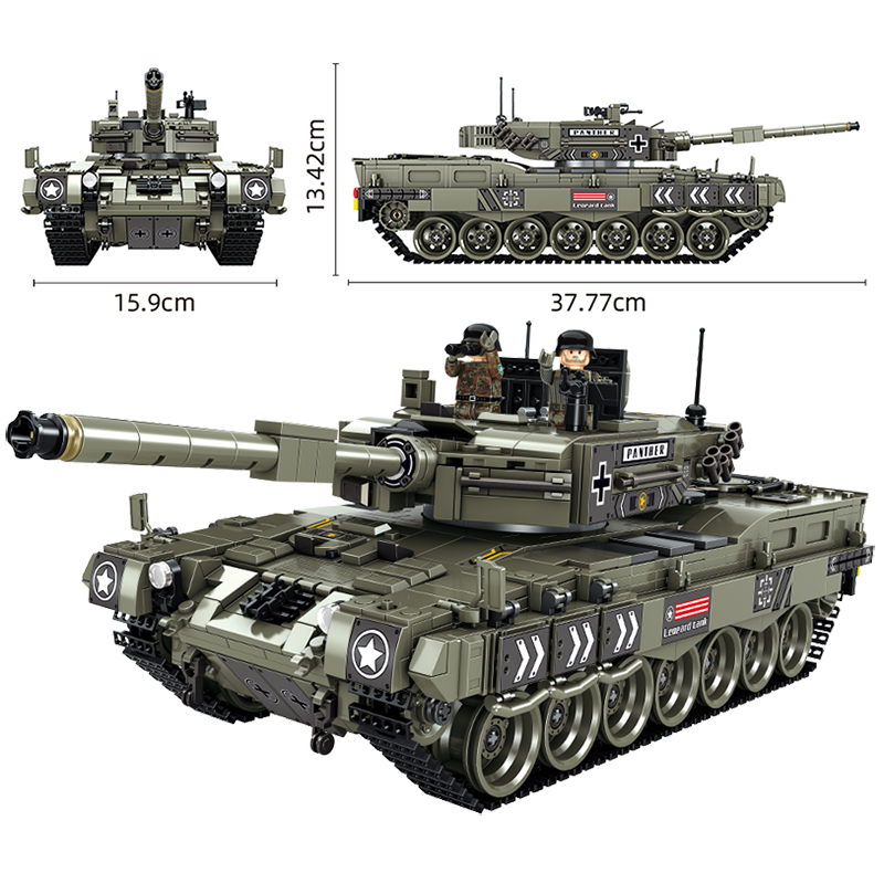 Children Toys Building-Blocks Tank Heavy-Tank-Bricks Army-Soldiers Technic Gifts Military-Series