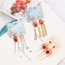new fashion enamel china peking opera face long tassel drop earrings elegant simulated pearl rhinestone earrings for women gift традиционное китайское платье brand new peking cheongsam ccw005