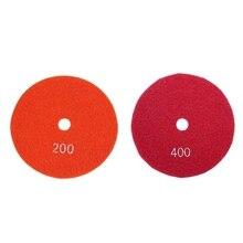 2 шт. 5 дюймов 125 мм влажные Алмазные полировальные колодки мрамор гранит крупы 200 и 400