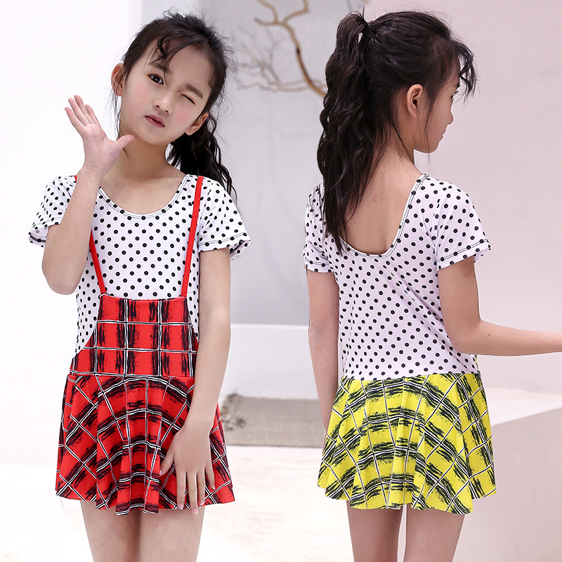 Direct Selling Children Triangular Bathing Suit Women's Strap Dress-Two-Piece Set CHILDREN'S Swimsuit One-piece KID'S Swimwear A