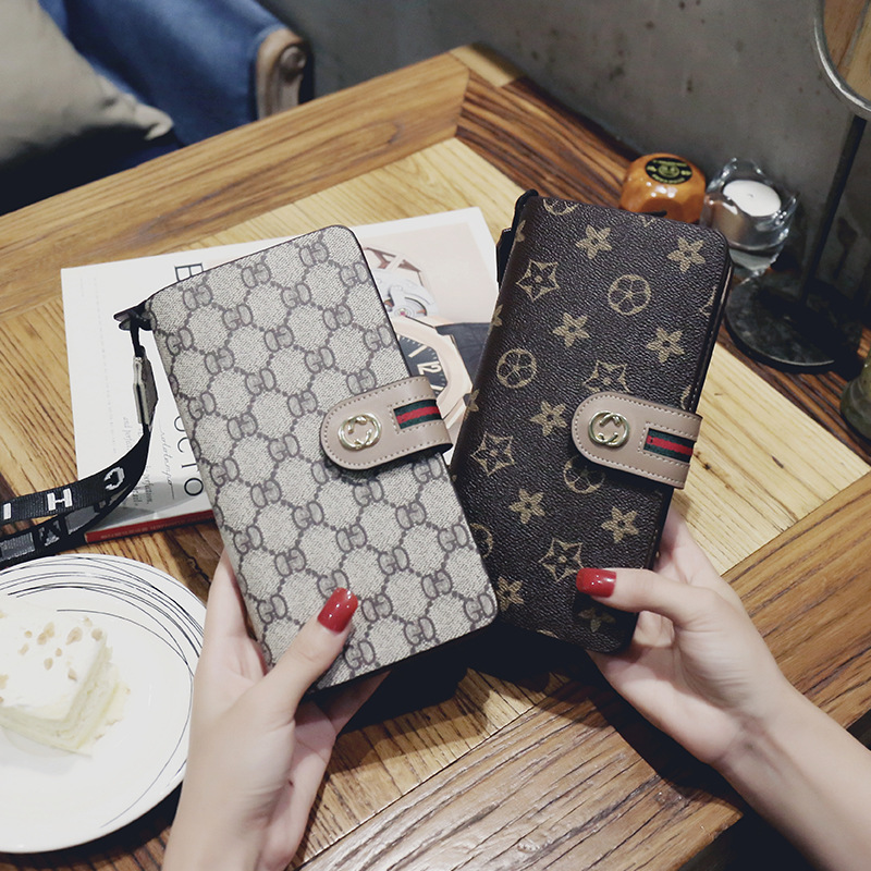 2018 New Products Women's Wallet Long Buckle Handbag Europe And America-Style Fashion Multi-functional LADY'S Wallet Leather Wal